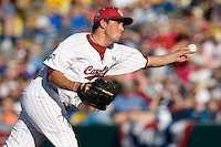 South Carolina starting pitcher Michael Roth delivers in Game Two of the NCAA Division One Men's College World Series Finals on June 29th, 2010 at Johnny Rosenblatt Stadium in Omaha, Nebraska.  (Photo by Andrew Woolley / Four Seam Images)