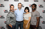 "Raúl Esparza, David Mason, Krysta Rodriguez, and W. Tré Davis attend the photo call for the cast and creative team of MCC Theater's New York Premiere of ""Seared"" on September 11, 2019 at Artesia Wine Bar in New York City."