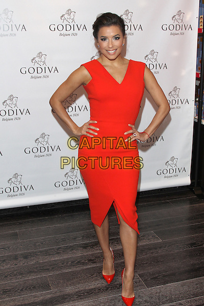 GLENDALE, CA - FEBRUARY 3: Actress Eva Longoria celebrates Valentine's Day with Public Display of Godiva! at Godiva Chocolatier on February 3, 2016 in Glendale, California.<br /> CAP/MPI23<br /> &copy;MPI23/Capital Pictures