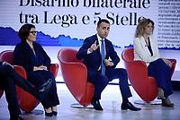 Roma, 23 Maggio 2019<br /> Luigi Di Maio, Elisabetta Trenta, Barbara Lezzi .<br /> il Movimento 5 Stelle a L'Aria Che Tira