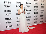Katrina Lenk poses in the 72nd Annual Tony Awards Press Room at 3 West Club on June 10, 2018 in New York City.