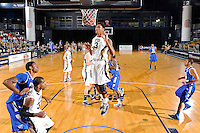 12 January 2012:  FIU guard-forward Dominique Ferguson (3) dunks the ball as the Middle Tennessee State University Blue Raiders defeated the FIU Golden Panthers, 70-59, at the U.S. Century Bank Arena in Miami, Florida.