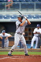 Tampa Yankees first baseman Gosuke Katoh (40) at bat during the first game of a doubleheader against the Charlotte Stone Crabs on July 18, 2017 at Charlotte Sports Park in Port Charlotte, Florida.  Charlotte defeated Tampa 7-0 in a game that was originally started on June 29th but called to inclement weather.  (Mike Janes/Four Seam Images)
