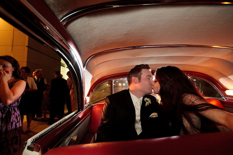 The marriage of Ashlee Gilliam and Josh Powell at the Dallas Museum of Art in Dallas on April 28, 2012.