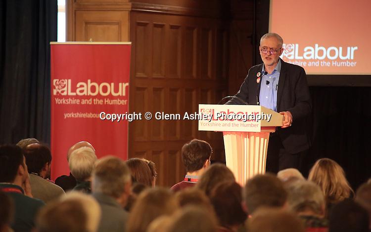 Labour Leader Jeremy Corbyn speaks at a Labour Party meeting in Sheffield, United Kingdom on 27 February 2016. Photo by Glenn Ashley/glennashley.org