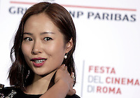 L'attrice cinese Jiang Yiyan posa durante un photocall per la presentazione del film &quot;Sword Master 3D&quot; al Festival Internazionale del Film di Roma, 20 ottobre 2016.<br /> Chinese actress Jiang Yiyan poses for a photocall to present the movie &quot;Sword Master 3D&quot; during the international Rome Film Festival at Rome's Auditorium, 20 October 2016.<br /> UPDATE IMAGES PRESS/Isabella Bonotto