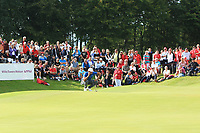 Julian Suri (USA) on the 18th green during Round 4 of Made in Denmark at Himmerland Golf &amp; Spa Resort, Farso, Denmark. 27/08/2017<br /> Picture: Golffile | Thos Caffrey<br /> <br /> All photo usage must carry mandatory copyright credit     (&copy; Golffile | Thos Caffrey)