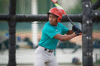 Kendrick Curry II (57), from Washington, DC, while playing for the Mariners during the Baseball Factory Pirate City Christmas Camp & Tournament on December 29, 2017 at Pirate City in Bradenton, Florida.  (Mike Janes/Four Seam Images)