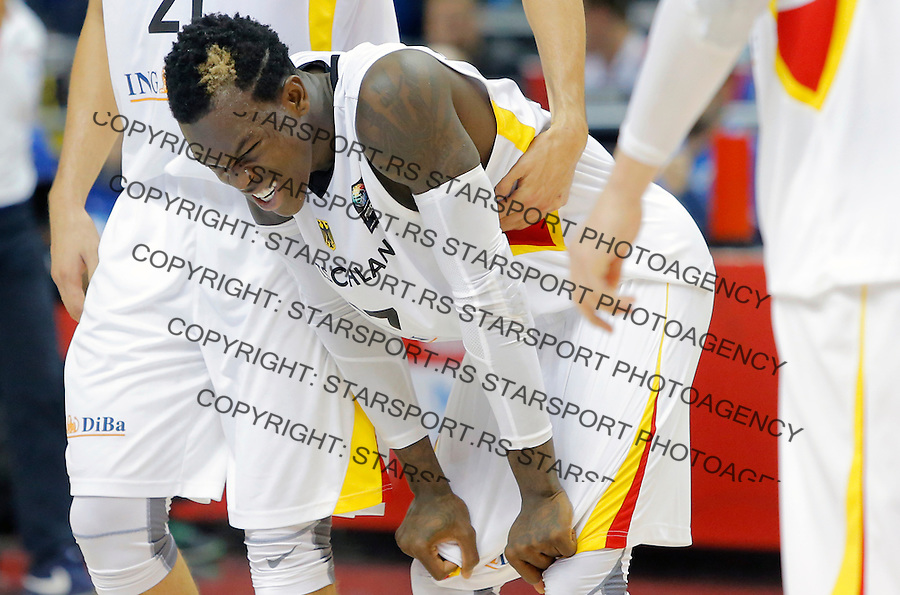Dennis Schroder European championship group B basketball match between Germany and Spain on 10. September 2015 in Berlin, Germany  (credit image & photo: Pedja Milosavljevic / STARSPORT)