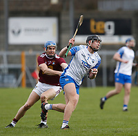 2nd February 2020; TEG Cusack Park, Mullingar, Westmeath, Ireland; Allianz Division 1 Hurling, Westmeath versus Waterford; Iarlaith Daly (Waterford) gets away from Shane Clavin (Westmeath)