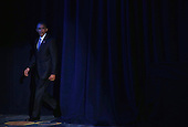 United States President President Barack Obama arrives to speak to Democrats during the General Session of the 2015 DNC Winter Meeting February 20, 2015 in Washington, DC. President Obama addressed the event and participated in a roundtable discussion.  <br /> Credit: Alex Wong / Pool via CNP