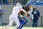 BROOKINGS, SD - NOVEMBER 11: Dallas Goedert #86 from South Dakota State University crosses the goal line for a touchdown past Mitchell Brees #9 from Illinois State during their game Saturday afternoon at Dana J. Dykhouse Stadium in Brookings. (Photo by Dave Eggen/Inertia)