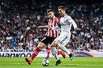 Cristiano Ronaldo (R) of Real Madrid fights for the ball with Unai Nunez Gestoso of Athletic Club de Bilbao during the La Liga 2017-18 match between Real Madrid and Athletic Club Bilbao at Estadio Santiago Bernabeu on April 18 2018 in Madrid, Spain. Photo by Diego Souto / Power Sport Images