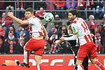 14.01.2018, RheinEnergieStadion, Koeln, GER, 1.FBL., 1. FC K&ouml;ln vs. Borussia M&ouml;nchengladbach<br /> <br /> im Bild / picture shows: <br /> Kopfball durch Dominique Heintz (FC K&ouml;ln #3),   und Jonas Hector (FC K&ouml;ln #14),  <br /> <br /> <br /> Foto &copy; nordphoto / Meuter