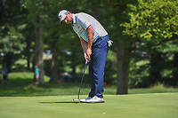 Marc Leishman (AUS) sinks his birdie putt on 1 during 3rd round of the World Golf Championships - Bridgestone Invitational, at the Firestone Country Club, Akron, Ohio. 8/4/2018.<br /> Picture: Golffile | Ken Murray<br /> <br /> <br /> All photo usage must carry mandatory copyright credit (© Golffile | Ken Murray)