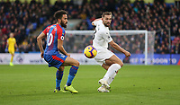Burnley's Charlie Taylor and Crystal Palace's Andros Townsend<br /> <br /> Photographer Rob Newell/CameraSport<br /> <br /> The Premier League - Saturday 1st December 2018 - Crystal Palace v Burnley - Selhurst Park - London<br /> <br /> World Copyright &copy; 2018 CameraSport. All rights reserved. 43 Linden Ave. Countesthorpe. Leicester. England. LE8 5PG - Tel: +44 (0) 116 277 4147 - admin@camerasport.com - www.camerasport.com