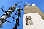 Predio da antiga TV Tupi e torre do SBT, Sao Paulo. 2018. Foto de Juca Martins.