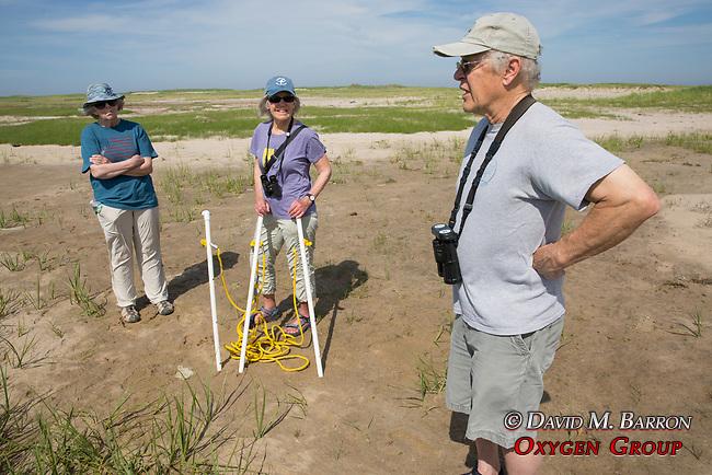Judith, Mary, & Bob On Horseshoe Crab Survey
