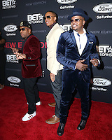 """LOS ANGELES - JAN 23:  Michael Bivins, Ronnie DeVoe, Ricky Bell at the BET's """"The New Edition Story"""" Premiere Screening at Paramount Studios on January 23, 2017 in Los Angeles, CA"""