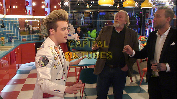 Celebrity Big Brother 2017<br /> Jedward, James Cosmo, Calum Best<br /> *Editorial Use Only*<br /> CAP/KFS<br /> Image supplied by Capital Pictures
