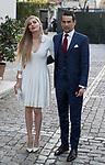 Jose Maria Manzanares and his wife Rocio Escalona arrive at Bullfight award Paul Ricard at France embassy in Madrid, Spain. March 28, 2017. (ALTERPHOTOS / Rodrigo Jimenez)