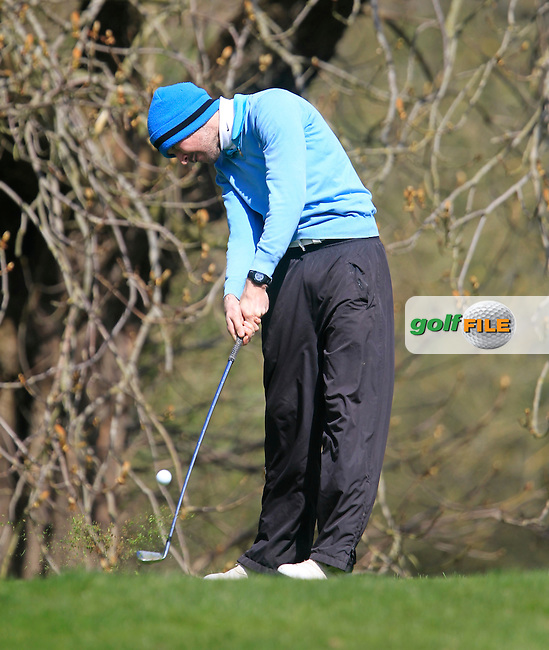 Enda Downes (Lucan) during the Headfort Scratch Cup, Kells, Co Meath 21/4/13.Picture: Thos Caffrey www.golffile.ie...