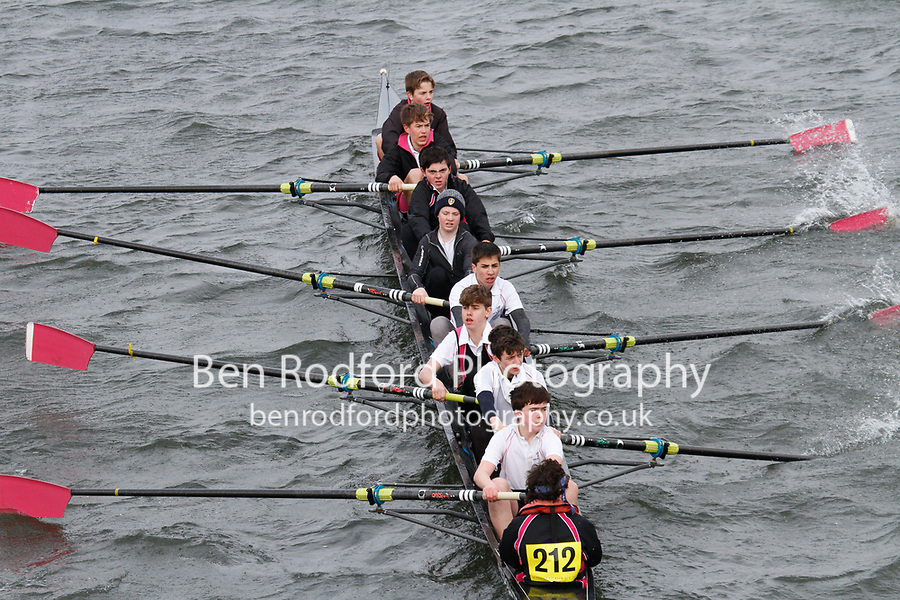 Crew: 212  Abingdon Sch  Event: J15 School 2nd eights<br /> <br /> Schools' Head of the River 2017<br /> <br /> To purchase this photo, or to see pricing information for Prints and Downloads, click the blue 'Add to Cart' button at the top-right of the page.