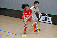 China's Hong Sang in action during the World Floorball Championships 2017 Qualification for Asia Oceania Region - Korea v China at ASB Sports Centre , Wellington, New Zealand on Saturday 4 February 2017.<br /> Photo by Masanori Udagawa<br /> www.photowellington.photoshelter.com.