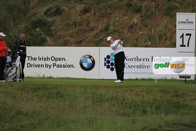 Matthew Zions (AUS) on the 17th during round 3 of the Irish Open at Royal Portrush GC,Portrush,County Antrim,Ireland. 30/6/12.Picture Fran Caffrey www.golffile.ie