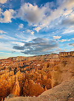 Bryce Canyon National Park, UT: Evening clouds over the Bryce Canyon Ampitheater