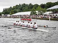 Henley Royal Regatta, Henley on Thames, Oxfordshire, 28 June - 2 July 2017.  Wednesday  15:36:57   28/06/2017  [Mandatory Credit/Intersport Images]<br /> <br /> Rowing, Henley Reach, Henley Royal Regatta.<br /> <br /> The Temple Challenge Cup<br />  University of Groningen, Netherlands v  Cornell University 'B', U.S.A.