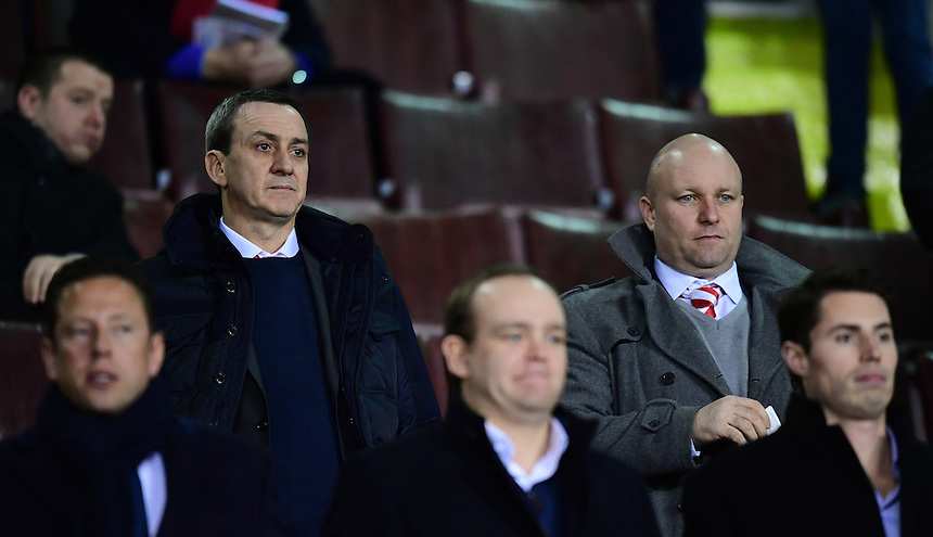 Fleetwood Town chairman Andy Pilley, left<br /> <br /> Photographer Chris Vaughan/CameraSport<br /> <br /> The EFL Sky Bet League One - Sheffield United v Fleetwood Town - Tuesday 24th January 2017 - Bramall Lane - Sheffield<br /> <br /> World Copyright &copy; 2017 CameraSport. All rights reserved. 43 Linden Ave. Countesthorpe. Leicester. England. LE8 5PG - Tel: +44 (0) 116 277 4147 - admin@camerasport.com - www.camerasport.com