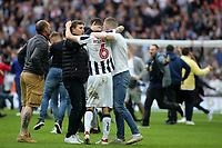 Some Millwall fans invade the pitch and celebrate their victory with Shaun Williams during Bradford City vs Millwall, Sky Bet EFL League 1 Play-Off Final at Wembley Stadium on 20th May 2017