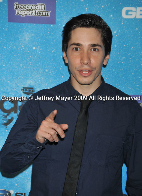 LOS ANGELES, CA. - October 17: Justin Long arrivs at Spike TV's Scream 2009 held at the Greek Theatre on October 17, 2009 in Los Angeles, California.