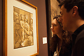 """Pictured: The Triumphs of Caesar, 1599 by Andrea Andreani (1558/59-1629) after Mantegna.  Press preview of the exhibition """"Renaissance Impressions: Chiaroscuro Woodcuts from the Collections of Georg Baselitz and the Albertina, Vienna"""", opens at the Royal Academy of Art on 15 March 2014. The exhibition at the Sackler Wing of Galleries runs from 15 March to 8 June 2014 and presents over 150 rare prints by the chief practitioners of the Chiaroscuro woodcutting technique in Germany, Italy and the Netherlands held at the Albertina Museum in Vienna and in the personal collection of the Honorary Royal Academian Georg Baselitz."""