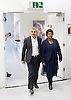 Sadiq Khan <br /> Labour mayor of London candidate speech at the university he attended, on increasing opportunities for all Londoners at London Metropolitan University, Holloway, London, Great Britain <br /> 25th April 2016 <br /> <br /> Sadiq Khan arrives with Doreen Lawrence <br /> <br /> Photograph by Elliott Franks <br /> Image licensed to Elliott Franks Photography Services