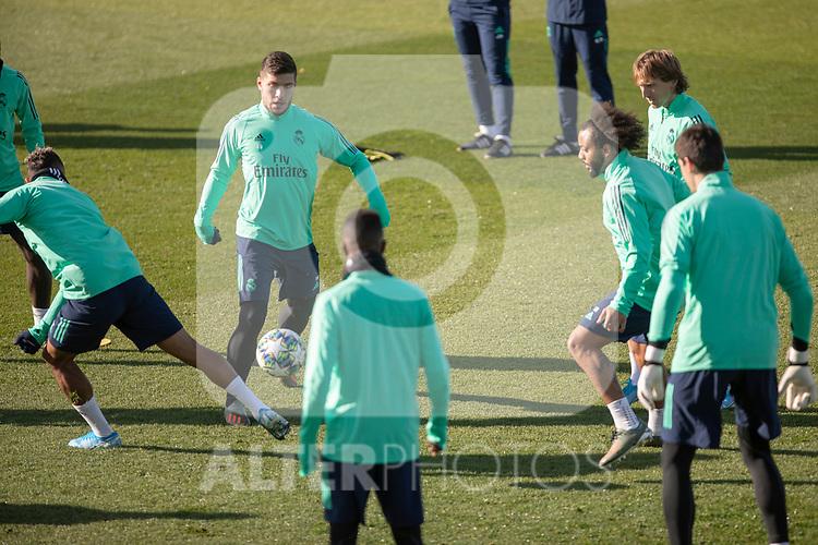 Real Madrid's  Jovic, Marcelo, Modric and Vinicius Jr. during training session. <br /> November 25 ,2019.<br /> (ALTERPHOTOS/David Jar)