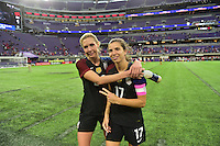 Minneapolis, MN - October 23, 2016: The U.S. Women's National team go on to defeat Switzerland 5-1 during an international friendly game at U.S. Bank Stadium.