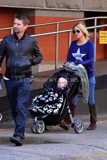 WWW.ACEPIXS.COM....April 17 2013, New York City....Actress Kate Hudson took her son Bingham for a walk around the Meatpacking District on April 17 2013 in New York City........By Line: Curtis Means/ACE Pictures......ACE Pictures, Inc...tel: 646 769 0430..Email: info@acepixs.com..www.acepixs.com