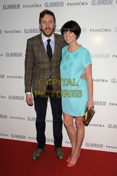 Guests.Glamour Women Of The Year Awards held at Berkeley Square Gardens, London, England..June 7th 2011..inside arrivals full length blue turquoise beaded dress suit tweed checked jacket tie green pink shoes patent .CAP/PL.©Phil Loftus/Capital Pictures.