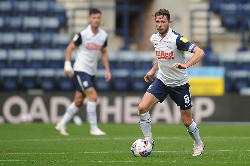 Preston North End's Alan Browne<br /> <br /> Photographer Kevin Barnes/CameraSport<br /> <br /> The EFL Sky Bet Championship - Preston North End v Swansea City - Saturday September 12th 2020 - Deepdale - Preston<br /> <br /> World Copyright © 2020 CameraSport. All rights reserved. 43 Linden Ave. Countesthorpe. Leicester. England. LE8 5PG - Tel: +44 (0) 116 277 4147 - admin@camerasport.com - www.camerasport.com