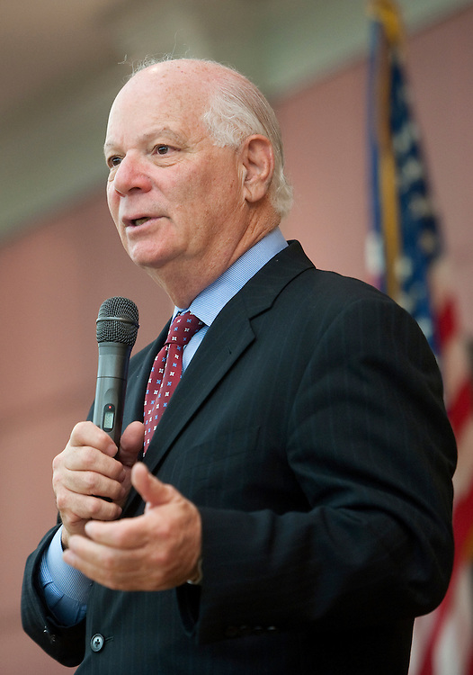 UNITED STATES - OCTOBER 22: Sen. Ben Cardin, D-Md., speaks to senior citizens about Medicare, Social Security and events unfolding in the Middle East at the Leisure World retirement community in Silver Spring, Md. (Photo by Chris Maddaloni/CQ Roll Call)