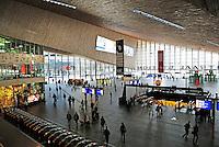 De hal van het nieuwe Centraal Station In Rotterdam.
