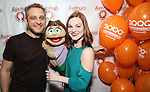 """Jeff Marx and Kerri Brackin attend the 'Avenue Q"""" 13th Anniversary and 3,QQQ Performance with Bar Mitzvah Party at the New World Stages on January 12, 2017 in New York City."""