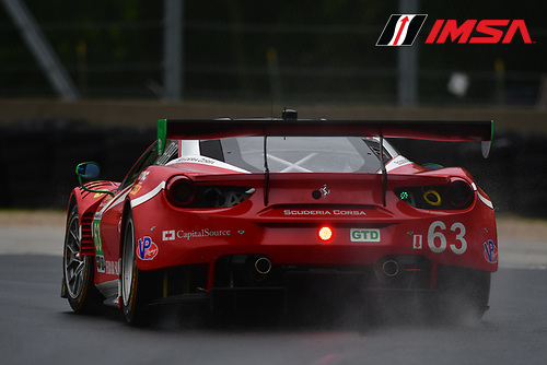 IMSA WeatherTech SportsCar Championship<br /> Continental Tire Road Race Showcase<br /> Road America, Elkhart Lake, WI USA<br /> Friday 4 August 2017<br /> 63, Ferrari, Ferrari 488 GT3, GTD, Alessandro Balzan, Christina Nielsen<br /> World Copyright: Peter Burke<br /> LAT Images