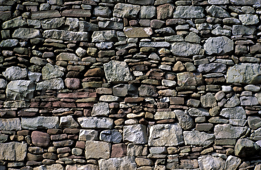 wall made of fieldstone