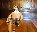 Civil war mannequin figure at Littlecote House Hotel, Hungerford, Berkshire, England, UK