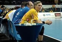 Handball Frauen / Damen  / women 1. Bundesliga - DHB - HC Leipzig : Frankfurter HC - im Bild: Natalie Augsburg. Porträt . Foto: Norman Rembarz .
