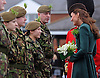 "KATE'S PRESENTS SHAMROCKS TO IRISH GUARDS.The Duchess of Cambridge presented shamrocks to members of 1 Irish Guards at Mons Barracks in Aldershot to mark the occasion of St Patricks Day_17/03/2012.Mandatory Credit Photo: ©A Baskerville/NEWSPIX INTERNATIONAL..**ALL FEES PAYABLE TO: ""NEWSPIX INTERNATIONAL""**..IMMEDIATE CONFIRMATION OF USAGE REQUIRED:.Newspix International, 31 Chinnery Hill, Bishop's Stortford, ENGLAND CM23 3PS.Tel:+441279 324672  ; Fax: +441279656877.Mobile:  07775681153.e-mail: info@newspixinternational.co.uk"