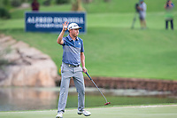 David Lipsky (USA) sinks his put on the 18th during the final round of the Alfred Dunhill Championship, Leopard Creek Golf Club, Malelane, South Africa. 16/12/2018<br /> Picture: Golffile | Tyrone Winfield<br /> <br /> <br /> All photo usage must carry mandatory copyright credit (&copy; Golffile | Tyrone Winfield)